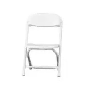 Kiddie White Folding Chair