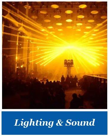 Lighting and sound